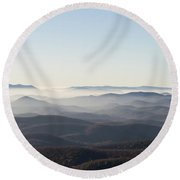 View From Blood Mountain Round Beach Towel