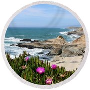 View From Bodega Head In Bodega Bay Ca - 3 Round Beach Towel