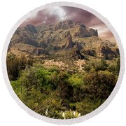 View From Boyce Thompson Round Beach Towel by Anne Rodkin