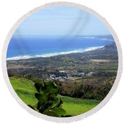 Round Beach Towel featuring the photograph View From Cherry Hill, Barbados by Kurt Van Wagner