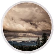 View From Flicka Farm Round Beach Towel
