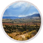 Round Beach Towel featuring the photograph View From Ghost Ranch, Nm by Kurt Van Wagner