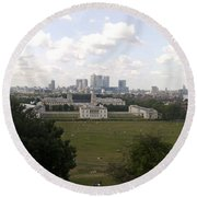 View From Greenwich 1 Round Beach Towel
