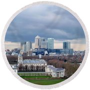 View From Greenwich 4 Round Beach Towel