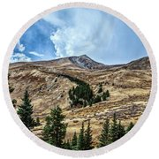 View From Guanella Pass Road Round Beach Towel