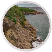 Round Beach Towel featuring the photograph View From Gulliver's Hole by Rick Berk