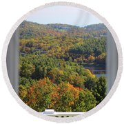 View From Moses Cone 2014b Round Beach Towel