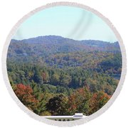 View From Moses Cone 2014c Round Beach Towel