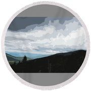 View From Mount Washington II Round Beach Towel