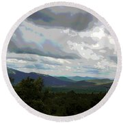 Round Beach Towel featuring the photograph View From Mount Washington IIi by Suzanne Gaff