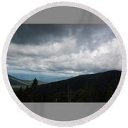 View From Mount Washington  Round Beach Towel by Suzanne Gaff