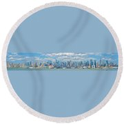 View From New Jersey 2 Round Beach Towel