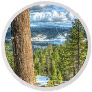View From Peddler Hill 2 Round Beach Towel