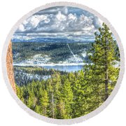 View From Peddler Hill Round Beach Towel