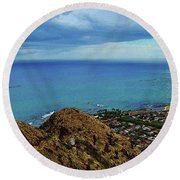 View From Pillbox Round Beach Towel