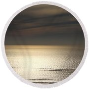 View From Point Loma Round Beach Towel