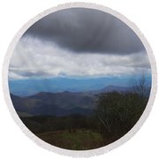 View From Silers Bald 2015b Round Beach Towel
