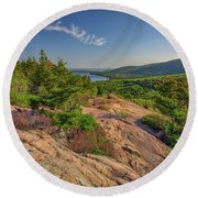 View From South Bubble Round Beach Towel by Rick Berk
