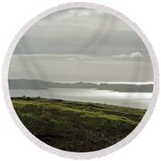 View From The Old Man Of Storr, Isle Of Skye, Uk Round Beach Towel by Dubi Roman