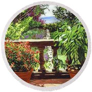View From The Royal Garden Round Beach Towel