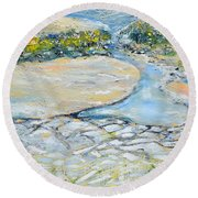 View From The Top Round Beach Towel by Evelina Popilian
