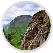 View Of Cannon Mountain Round Beach Towel