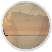 View Of Heaven II Round Beach Towel