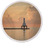 View Of Heaven Round Beach Towel