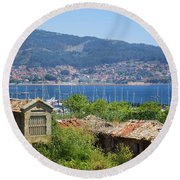View Of Meira Round Beach Towel