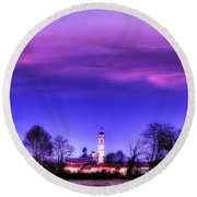 View Of San Giorgio Lomellina Round Beach Towel