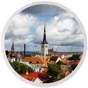 View Of St Olav's Church Round Beach Towel