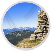 View Of The Apuan Alps Round Beach Towel
