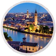 Round Beach Towel featuring the photograph View Of Verona by Fabrizio Troiani
