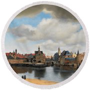 View On Delft Round Beach Towel