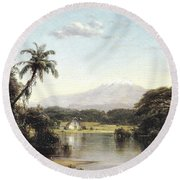 View On The Magdalena River Round Beach Towel