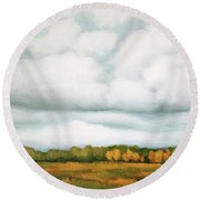 Viewpoint Round Beach Towel by Inese Poga