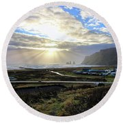 Vik Iceland Sunrays 7028 Round Beach Towel