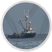 Viking Fisher 1 Round Beach Towel by Randy Hall
