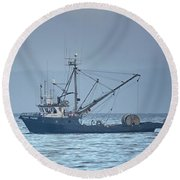 Round Beach Towel featuring the photograph Viking Fisher 3 by Randy Hall