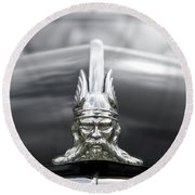 Viking Hood Ornament II Round Beach Towel by Helen Northcott
