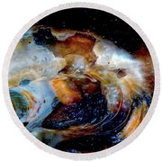 Vilano Sea Shell Constellation Round Beach Towel