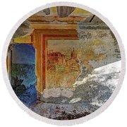 Villa Giallo Atmosfera Artistica - Artistic Atmosphere Round Beach Towel