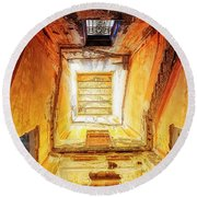 Villa Giallo Atmosfera Escher II - Escher Atmosphere II Round Beach Towel