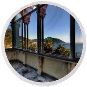 Villa Of Windows On The Sea - Villa Delle Finestre Sul Mare II Round Beach Towel