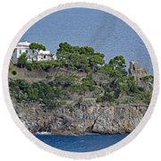 Villa Owned By Sophia Loren On The Amalfi Coast In Italy Round Beach Towel
