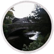Village Bridge Round Beach Towel