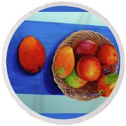 Vilma's Magical Mango's Round Beach Towel