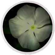 Vinca Bloom Night Glow Round Beach Towel