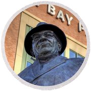 Vince Lombardi Round Beach Towel by Joel Witmeyer