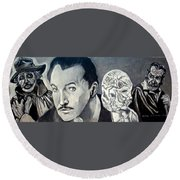 Vincent Price Round Beach Towel